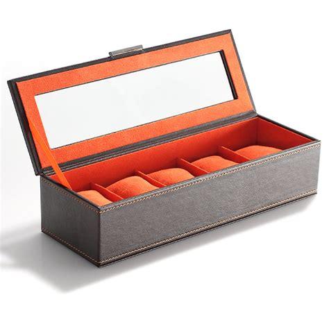 boite pour ranger les montres boite coffret de rangement montres pour 5 montres simili cuir ebay