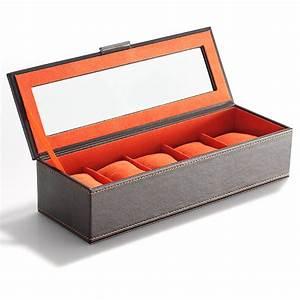 Boite A Montre Homme : boite de rangement pour montres en simili cuir ~ Teatrodelosmanantiales.com Idées de Décoration