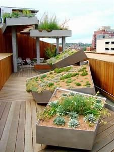 kleiner garten in der stadt dachterrasse mit steingarten With französischer balkon mit keramik katzen für garten