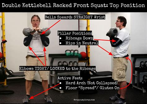 racked front double kettlebell position squat spine neutral locked re kb glutes pelvis pillar because going