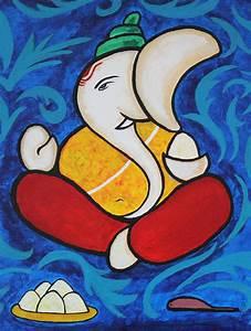 Shri Ganesh Painting by Sowjanya Sreeram