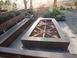 Concrete Gas Fire Pits - Craftsman - Patio - San Luis