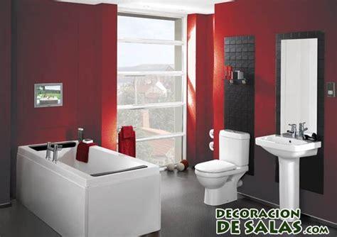 Simple Bathroom Designs In Pakistan by Ba 241 Os Con Pinceladas En Color Rojo