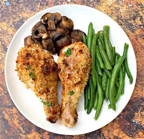 air fryer chicken drumsticks fried legs breaded panko beans wings mushrooms