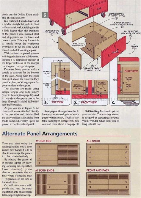 downdraft sanding table plans woodarchivist