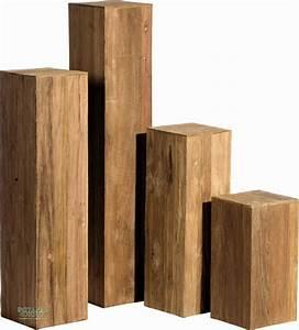 Dekosäule Holz Massiv : s ule teak holz dekos ule aus teakholzpaneelen ~ Sanjose-hotels-ca.com Haus und Dekorationen