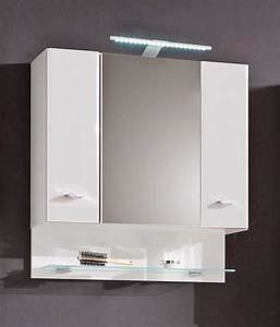 Badschrank BAROLO Spiegelschrank Mit Beleuchtung Dekor