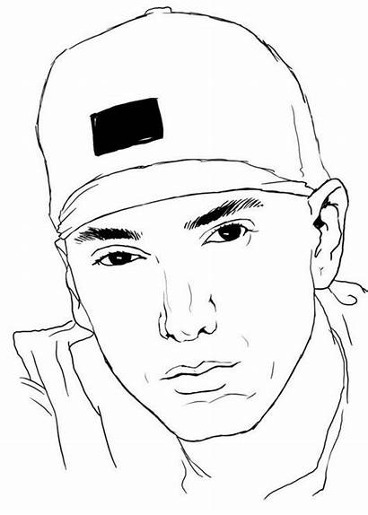 Coloring Eminem Pages Famous Drawing Colouring Sheets