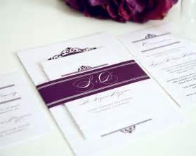 photo wedding invitations light purple wedding invitations with damask monogram wedding invitations by shine