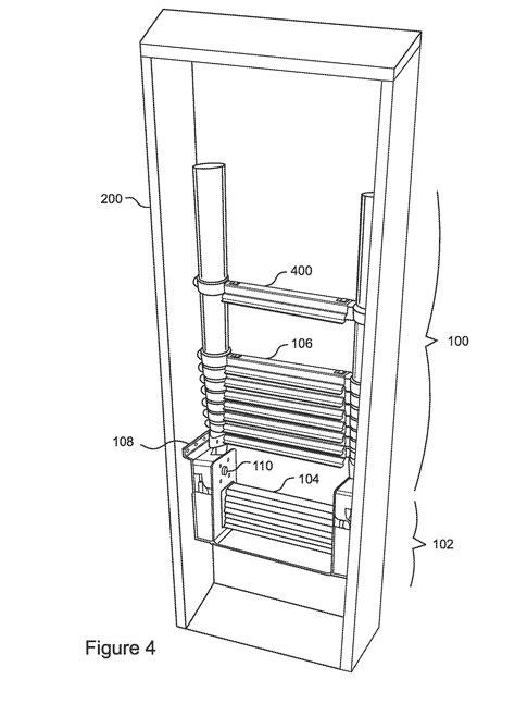 Patent US20120193167 Telescoping Pull Down Attic Ladder