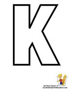 Free Printable Alphabet Letters K