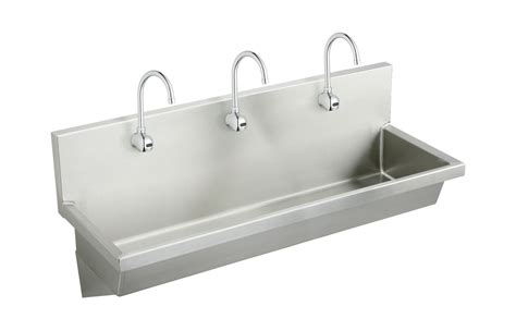 non stainless steel kitchen sinks faucet ewma7220sacmc in stainless steel by elkay 7120