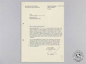 an april 1944 signed letter from martin bormann third With a signed documents