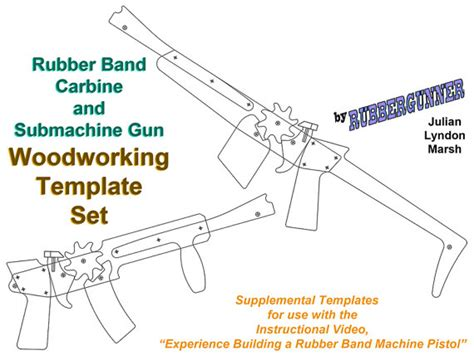rubber band gun template rubber band gun plans carbine and submachine gun printable woodworking templates rifle or