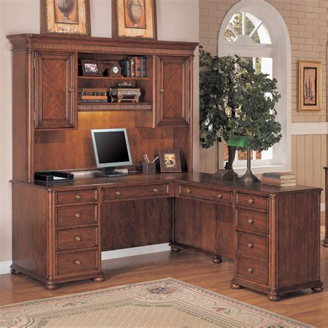 corner computer desk with hutch canada modern brown varnished maple corner desk with small