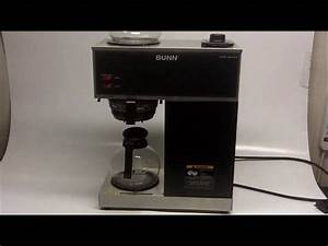 Bunn Vpr Series Coffee Maker Instructions