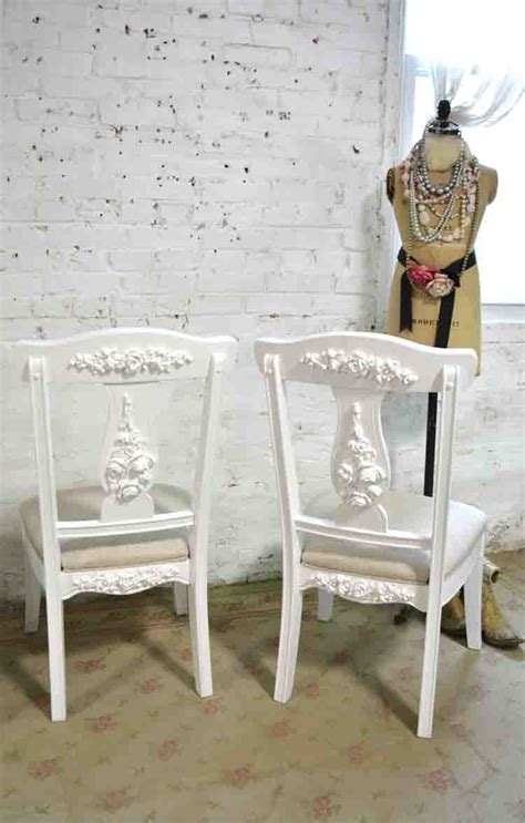 painted cottage chic shabby dining desk chair
