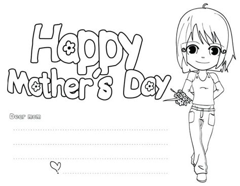 Happy Mother's Day Coloring Card