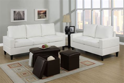 leather sofa and ottoman set sofa and loveseat set ultra modern versa white leather 3