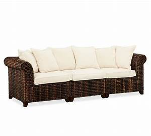 Seagrass 3 piece sofa pottery barn home living for Pottery barn seagrass sectional sofa