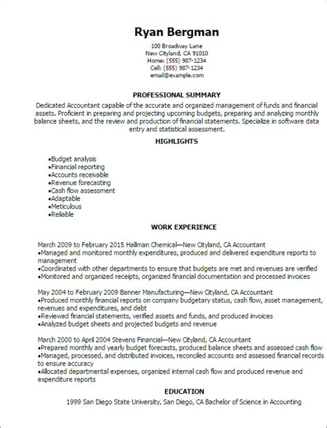 Accounting Resume Template by Accounting Finance Resume Templates To Impress Any