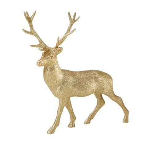 28 best gold reindeer decoration 35cm gold glitter