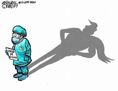 Covid Marshall Cartoon Heroes Cartoons Healthcare Mississippi