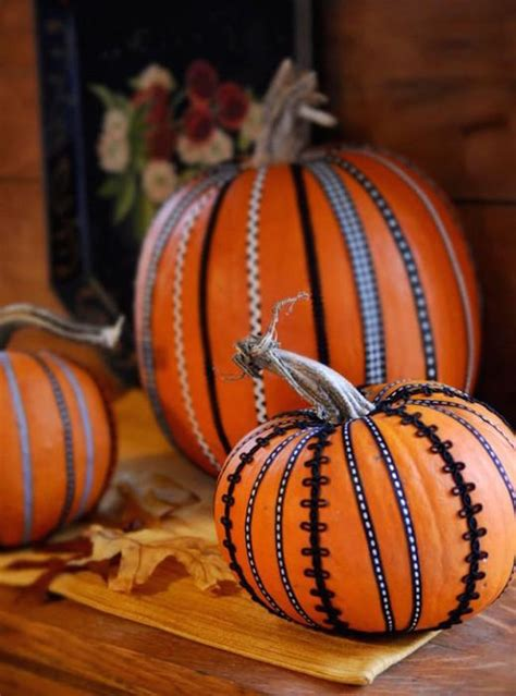 decorated pumpkins 8 easy and chic ways to dress up your pumpkins for halloween