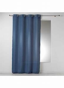 Rideau Gris Bleu : rideau uni en chambray bleu lin gris anthracite homemaison vente en ligne tous ~ Teatrodelosmanantiales.com Idées de Décoration