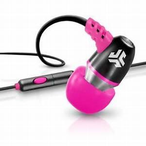 JLab Audio Neon Earbuds w Inline Mic Black Pink TVs