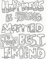 Coloring Pages Wedding Bff Adult Doodle Husband Books Sheets Quote Friend Married Printable Colouring Doodles Sayings Weddings Activities Anniversary Adults sketch template