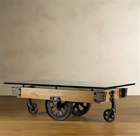 Fancy  Glass Top Furniture Factory Cart  Coffee Tables