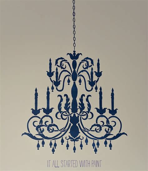 Chandelier Stencils by Chandelier Stencil It All Started With Paint