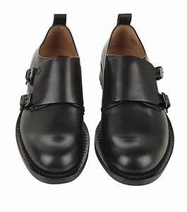 Valentino Double Monk Shoe In Black For Men