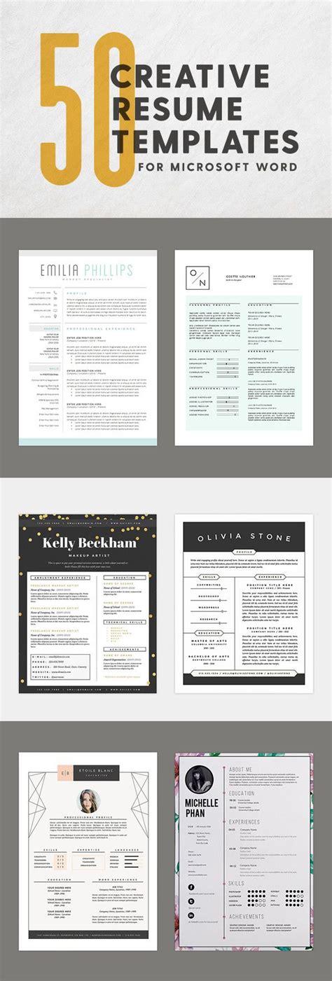 Resume Help Microsoft Word by 50 Innovative Artistic Microsoft Word Resume Templates