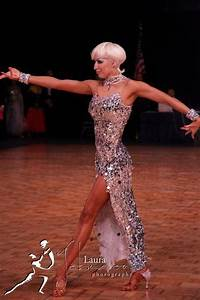 Silver latin dance dress