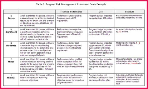 The Management Center Program Plan Template by Plan Risk Management Plan Template