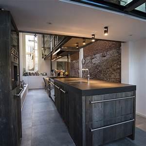 Industriële Barnwood keuken van RestyleXL