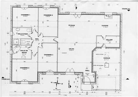 plan de maison 4 chambres gratuit plan maison 4 chambres plain pied gratuit images