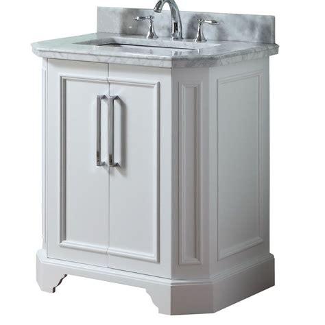 allen roth 31in white delancy single sink bathroom
