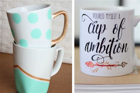 How To Decorate A Coffee Mug - 4 cool ways to decorate your coffee mugs