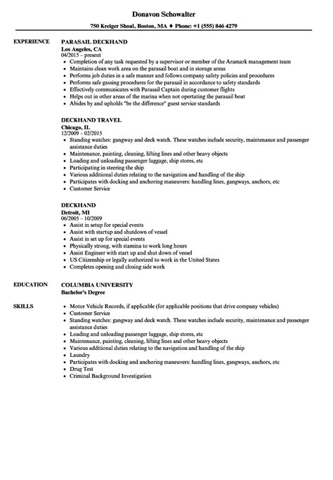 Tugboat Deckhand by Deckhand Resume Resume Ideas