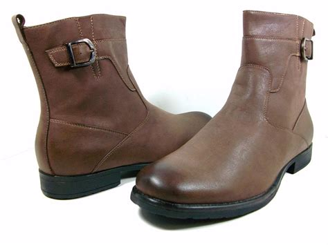 casual motorcycle riding boots polar fox men 39 s 691 tall round toe distressed casual