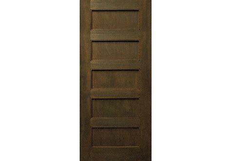 "96"" Mahogany 5-panel Shaker Interior Door 1-3/4"