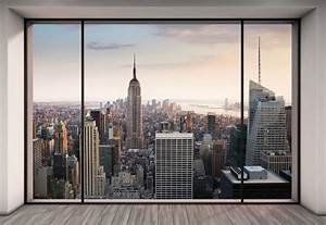 Poster Mural 3d : wall mural new york city skyline penthouse photo wallpaper 368x254cm wall art 4036834089160 ebay ~ Teatrodelosmanantiales.com Idées de Décoration