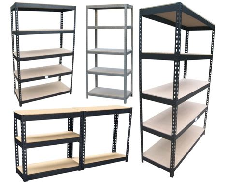 Furniture: Delectable Black Metal Ikea Garage Shelving As