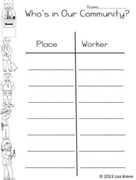 11 Best Images Of First Grade Community Worksheets  My Community 2nd Grade Social Studies