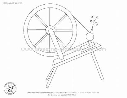 Coloring Sleeping Spinning Beauty Wheel Pages Party