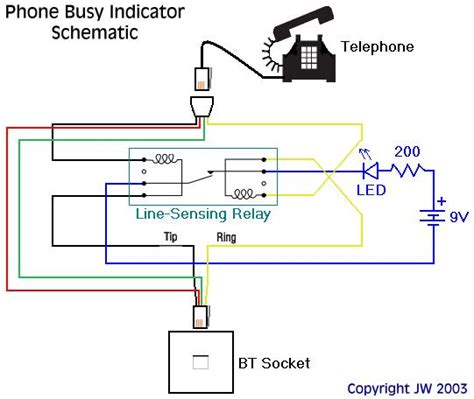 Diagram 2wire Telephone by Neolics Electronics Phone Busy