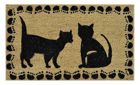 doormat cat door mats black cats coir doormat 18 quot x 30 quot vinyl